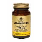 Solgar - Natural Vitamin K2 (MK-7) 100 mcg Vegetable Capsules - 50