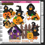 Halloween Crows SE Clipart - CU
