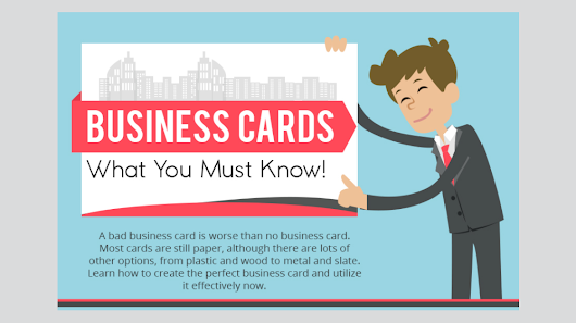 72 Percent Will Judge Your Company by the Quality of Your Business Card (INFOGRAPHIC) - Small Business Trends