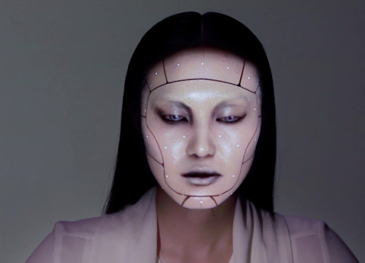 Watch A Model's Face Transform With Projection Mapped Makeup | The Creators Project
