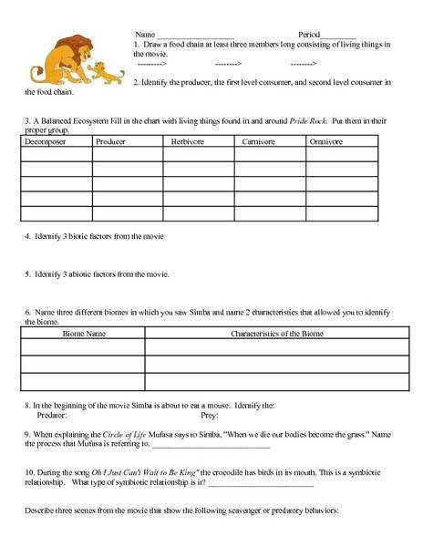 30 Chapter 3 Principles Of Ecology Worksheet Answers ...