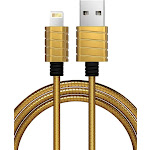iWalk Lightning Cable, Charge & Sync Cable, Metallic, Stronger, Steel Gray