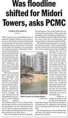 "Did ""Water Resources Department"", formerly known as Irrigation  Department of Government of Maharashtra, shifted the flood-line for Midori Towers, asks PCMC"