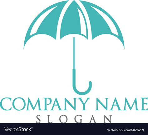 umbrella logo design royalty  vector image