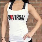 Universal Nutrition - Universal Ladies White Classic Tank - Small