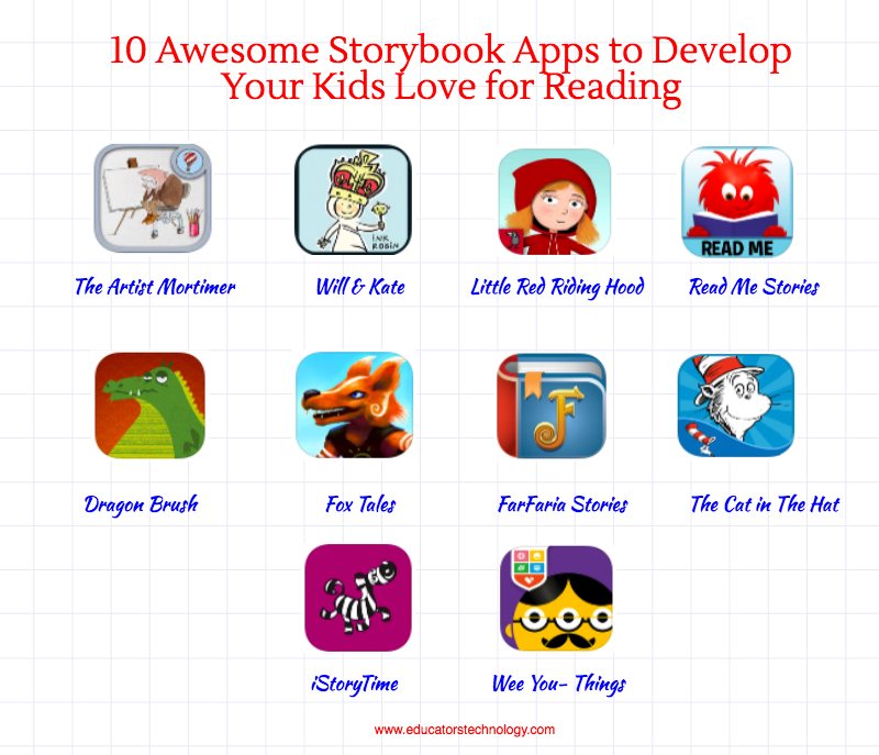 10 Awesome Storybook Apps to Develop Your Kids Love for Reading