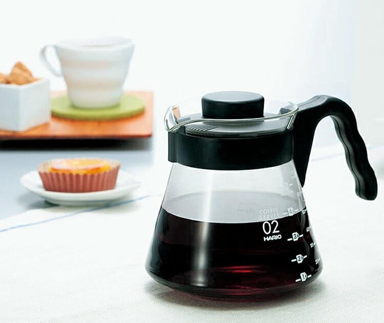 【超值推薦】【沐湛咖啡】日本製HARIO V-60 (VCS-01B/VCS-02B)微波耐熱玻璃壺 700cc 咖啡壺 花茶壺 黑