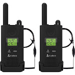 Cobra - MicroTalk 23-Mile, 22-Channel Frs/gmrs 2-Way Radios (Pair) - Black