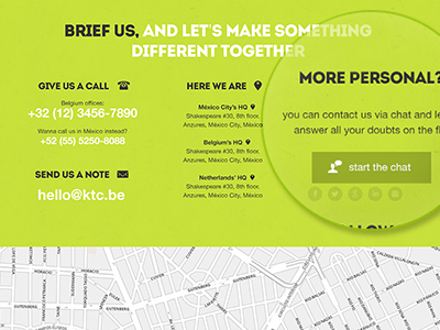 green design agency website contact form