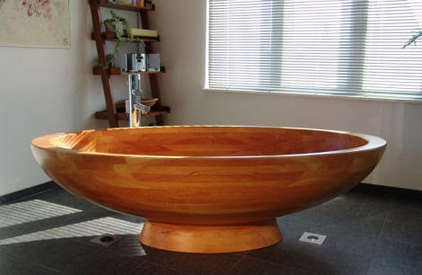 Wood Bathtub from WS Bath Collections - the Madera wood bathtubs
