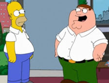 Homero Simpson y Peter Griffin