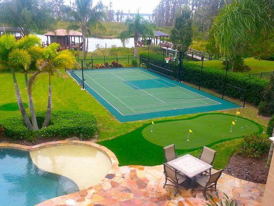 backyard basketball court ideas 11