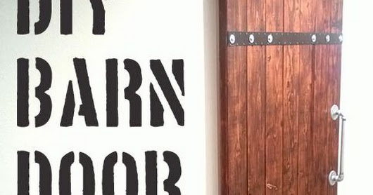 DIY:  Barn Door Tutorial - made from 2x6 pine.  This is a budget friendly project! | Decor Hacks | Pinterest