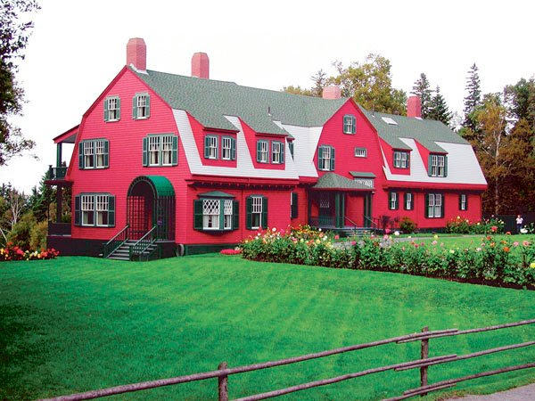 The Roosevelt cottage, built in 1887, has long been the centerpiece at Roosevelt Campobello International Park on Campobello Island, New Brunswick.