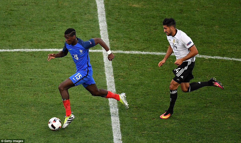 Pogba breaks away from Can but France relinquished almost 70 per cent of the possession to their opponents in the first half