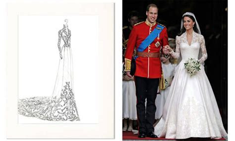 Wedding Dress Portrait: Kate Middleton   Wedding
