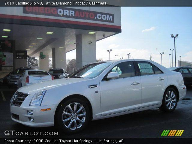 White Diamond Tricoat - 2010 Cadillac STS V8 - Cashmere ...