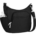 Travelon Anti-Theft Cross-body Bucket Bag, 900 D. Polyester Slash-resistant, One size, Black (New without Tags)