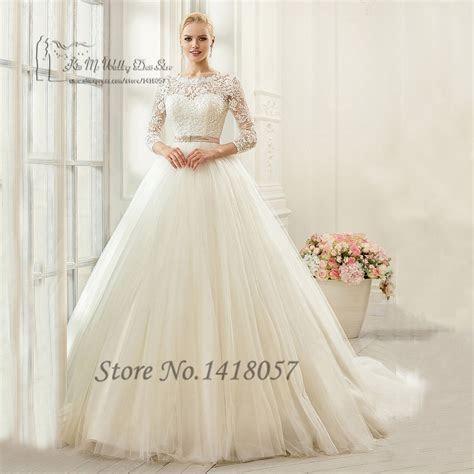 Gelinlik Vintage Wedding Gowns Pink Sash Ball Gown Bridal