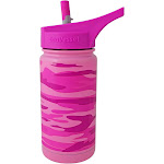Eco Vessel Frost Kids Insulated 13 oz Water Bottle, Pink