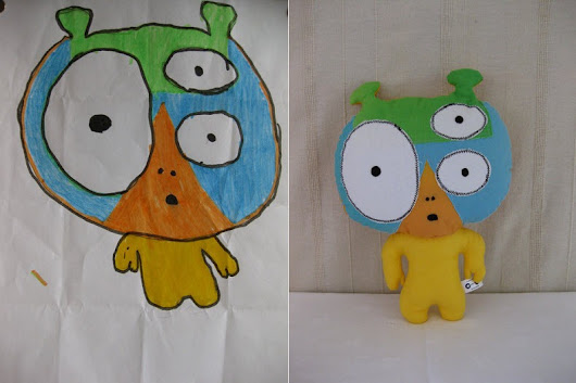 Women Creates Freakish But Great Soft Toys From Kids Drawings!  - Cools And Fools