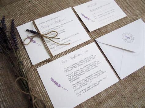 ?Lavender Love? rustic wedding stationery suite » SJ