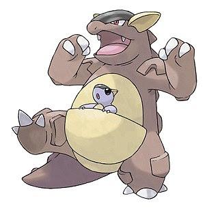 Pokemon character Kangaskhan