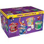 Kelloggs Cereal Cups, Family Variety Pack - 12 cups, 23.4 oz