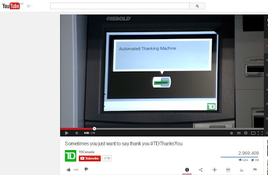 "Heartwarming ""ATM (Automated Thanking Machine"" Ad Campaign by TD Canada"