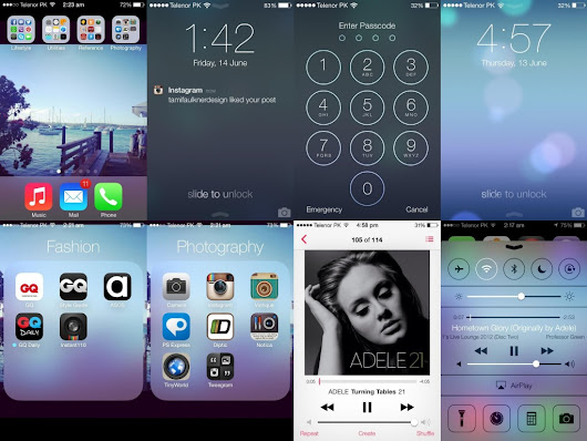 A Look at iOS 7 Features and Flat Design | eGenieNext Blog