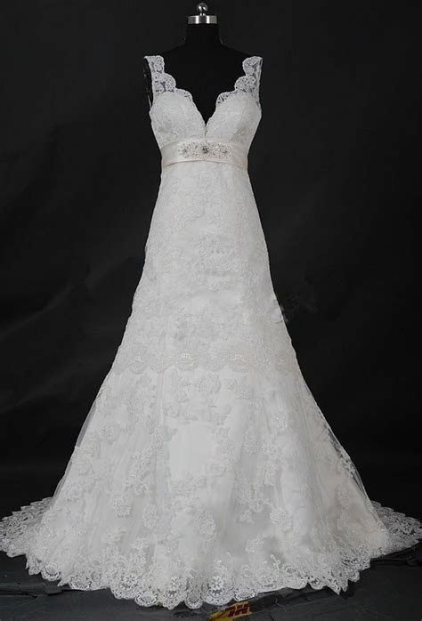 whiteivory lace wedding dress bridal gown custom size