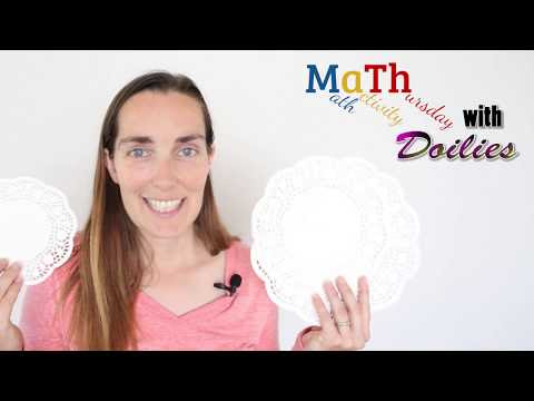 Math activity Thursday! With doilies and place value (since I forgot to post last time)