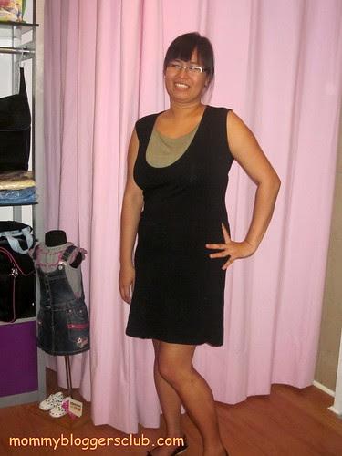 Pehpot wearing a black Nursing Wear
