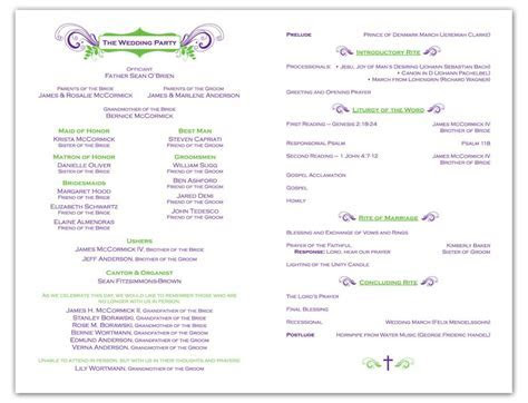A wedding program is a great way to include guests at the