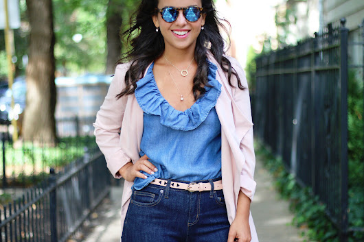 3 ways to style a chambray top for Fall - WAYS OF STYLE