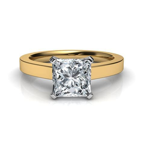 Novo Princess Cut Solitaire Diamond Engagement Ring