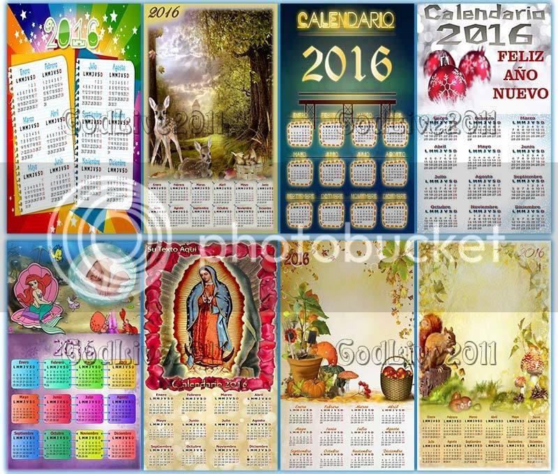 calendario psd 2016 para imprimir con foto editable photoshop