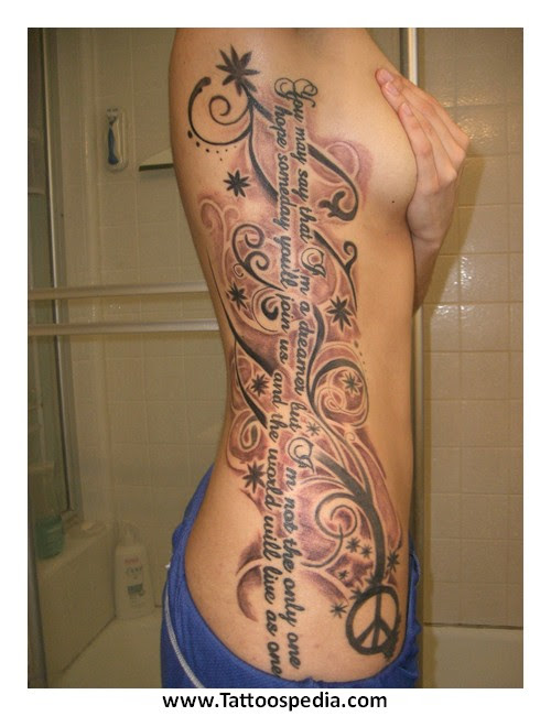Small Flower Tattoo Rib Cage Flowers Healthy