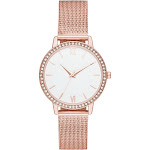 Women's Crystal Mesh Strap Watch - A New Day Rose Gold