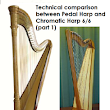 Technical and structural comparison between the Pedal Harp and the Chromatic Harp 6/6 (part 1)