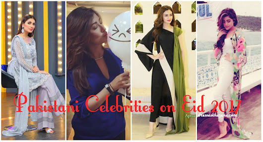 Pakistani Celebrities on Eid 2017 | Pictures of Couple Celebrities with Kids