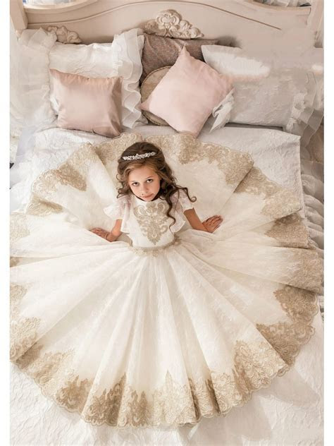 Lace Tulle Princess Ball Gown Flower Girl Dresses 5501082