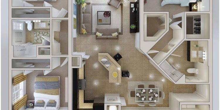 Kumpulan Gambar Rumah Minimalis Modern 1 Lantai 3 Kamar