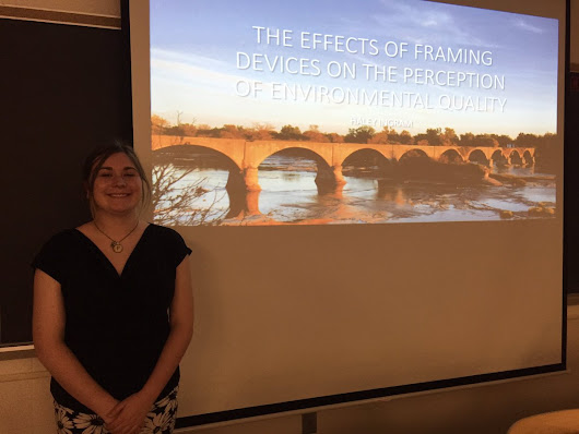 "Kevin McCluney on Twitter: ""Proud of my student @halaingram for a great honors thesis talk! Tone of writing alters water quality beliefs! """