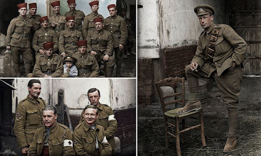 Brave British soldiers pose for pictures before Battle of the Somme