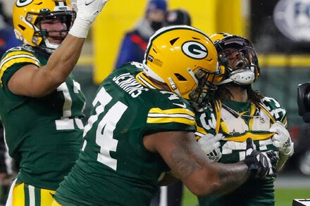 With Donald out, the Packers' running game is thriving.