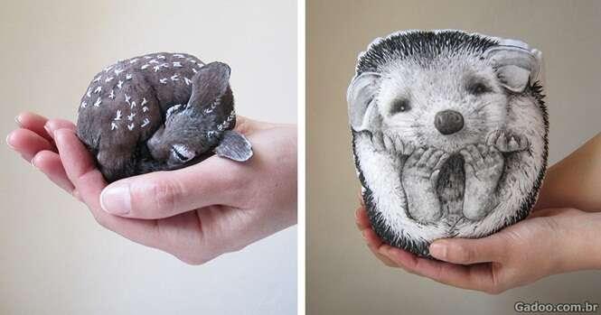 Artista cria almofadas inspiradas em animais