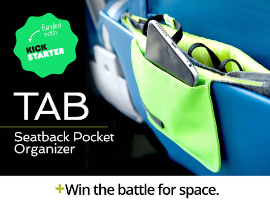 TAB: A handsome seatback pocket organizer