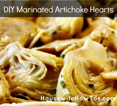 Recipe for how to make marinated artichoke hearts from HousewifeHowTos.com