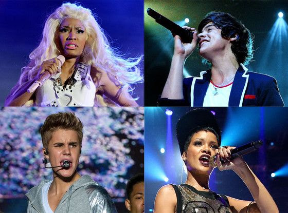 2012 American Music Awards - Nomination, Rihanna, Justin Bieber